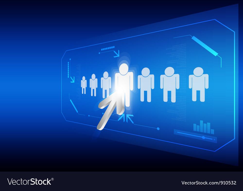 Arrow click human icon vector | Price: 1 Credit (USD $1)
