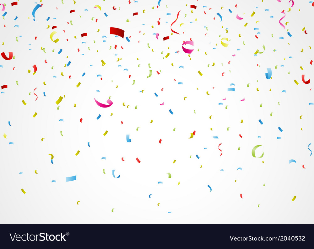 Colorful confetti on white background vector | Price: 1 Credit (USD $1)