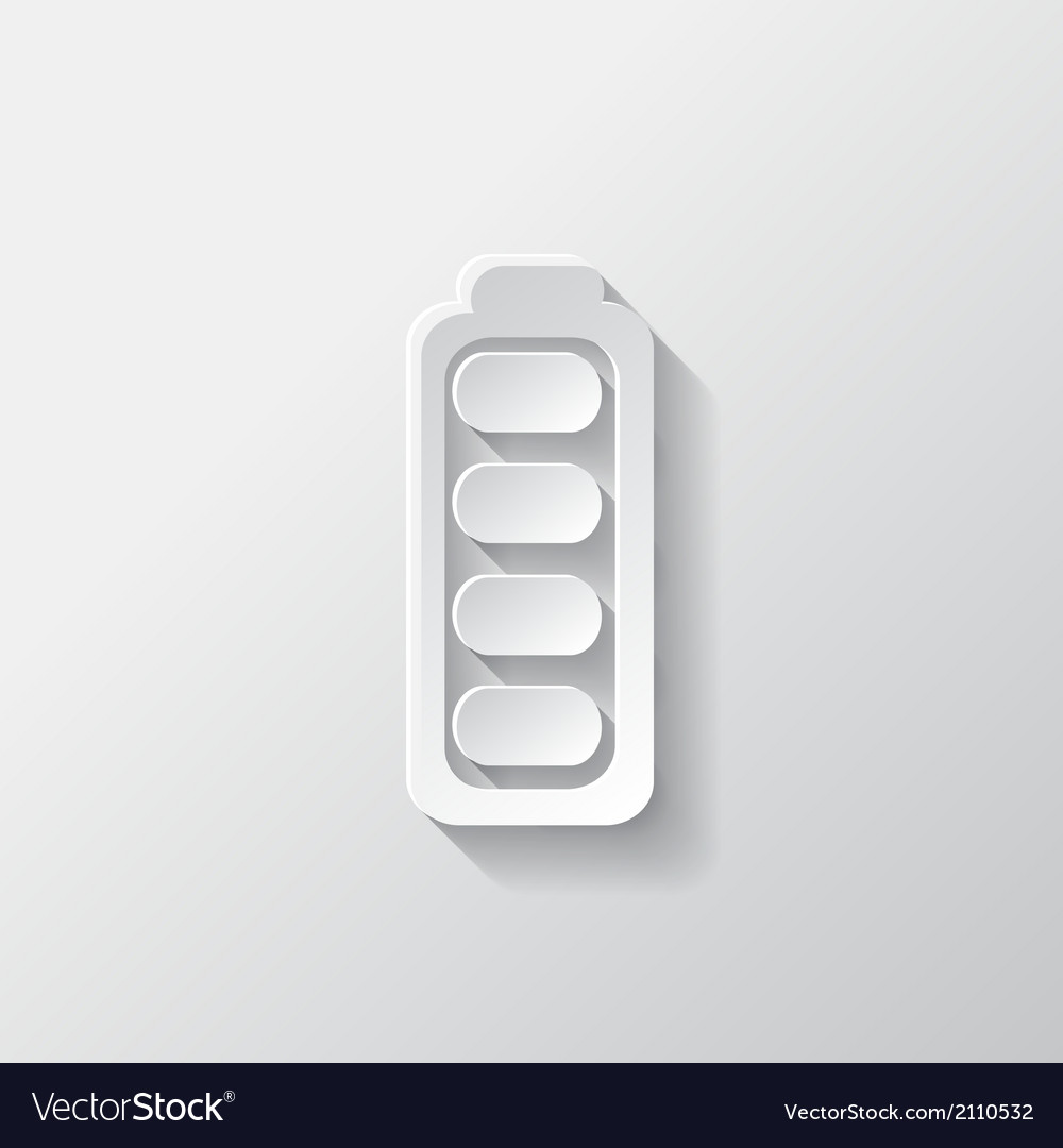 Full battery icon accumulator vector | Price: 1 Credit (USD $1)