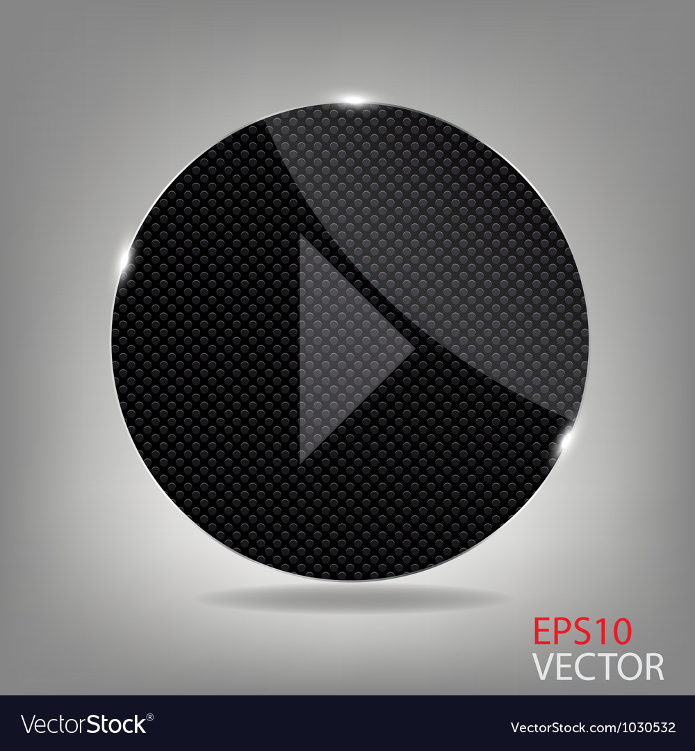 Glass button media icon vector | Price: 1 Credit (USD $1)
