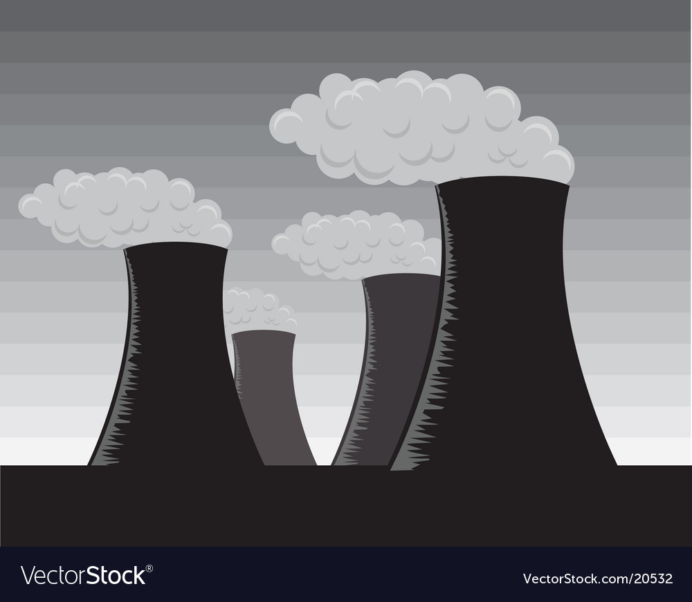Industrial factories gray scale vector | Price: 1 Credit (USD $1)