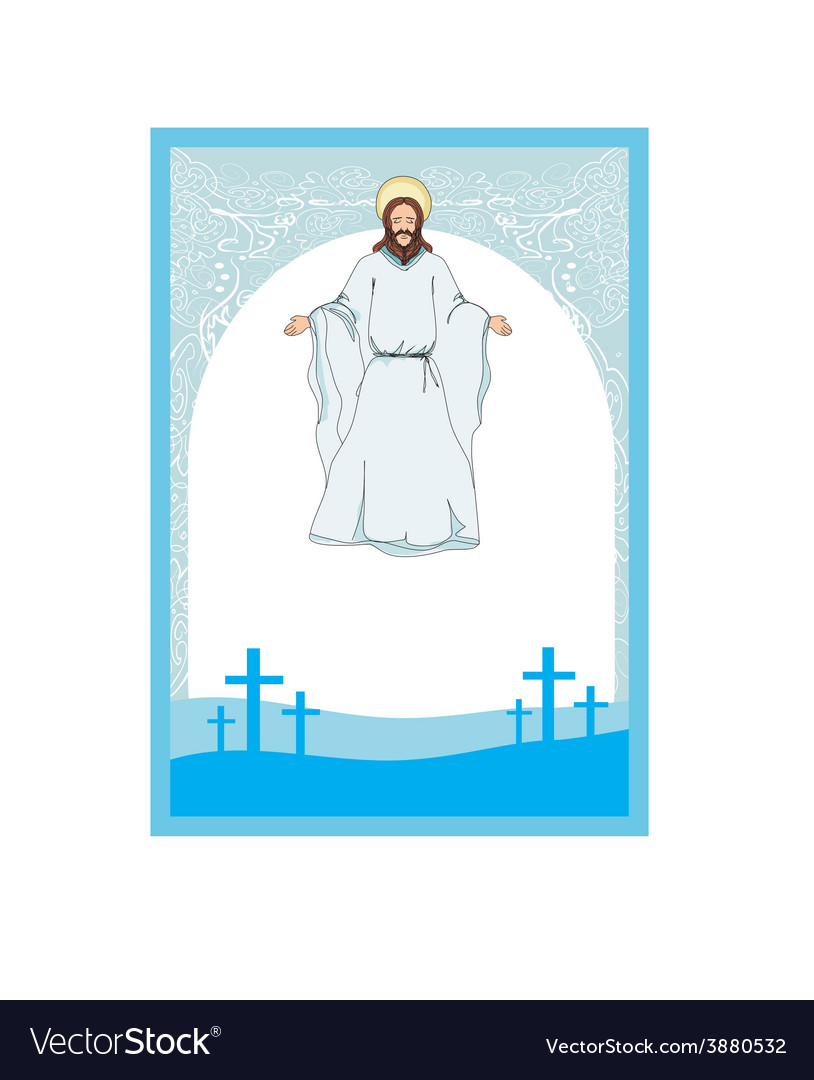 Jesus christ bless vector | Price: 1 Credit (USD $1)