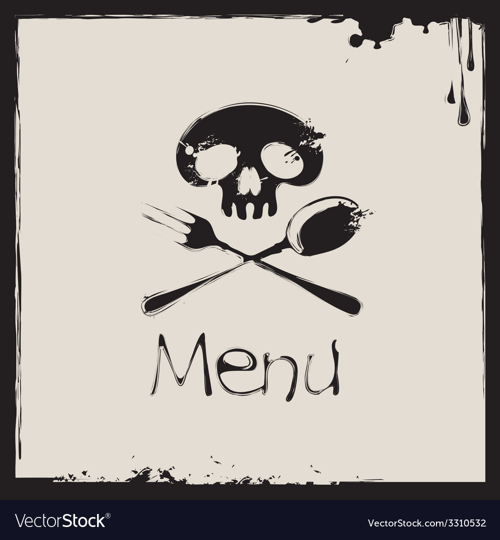 Menu with a human skull vector | Price: 1 Credit (USD $1)