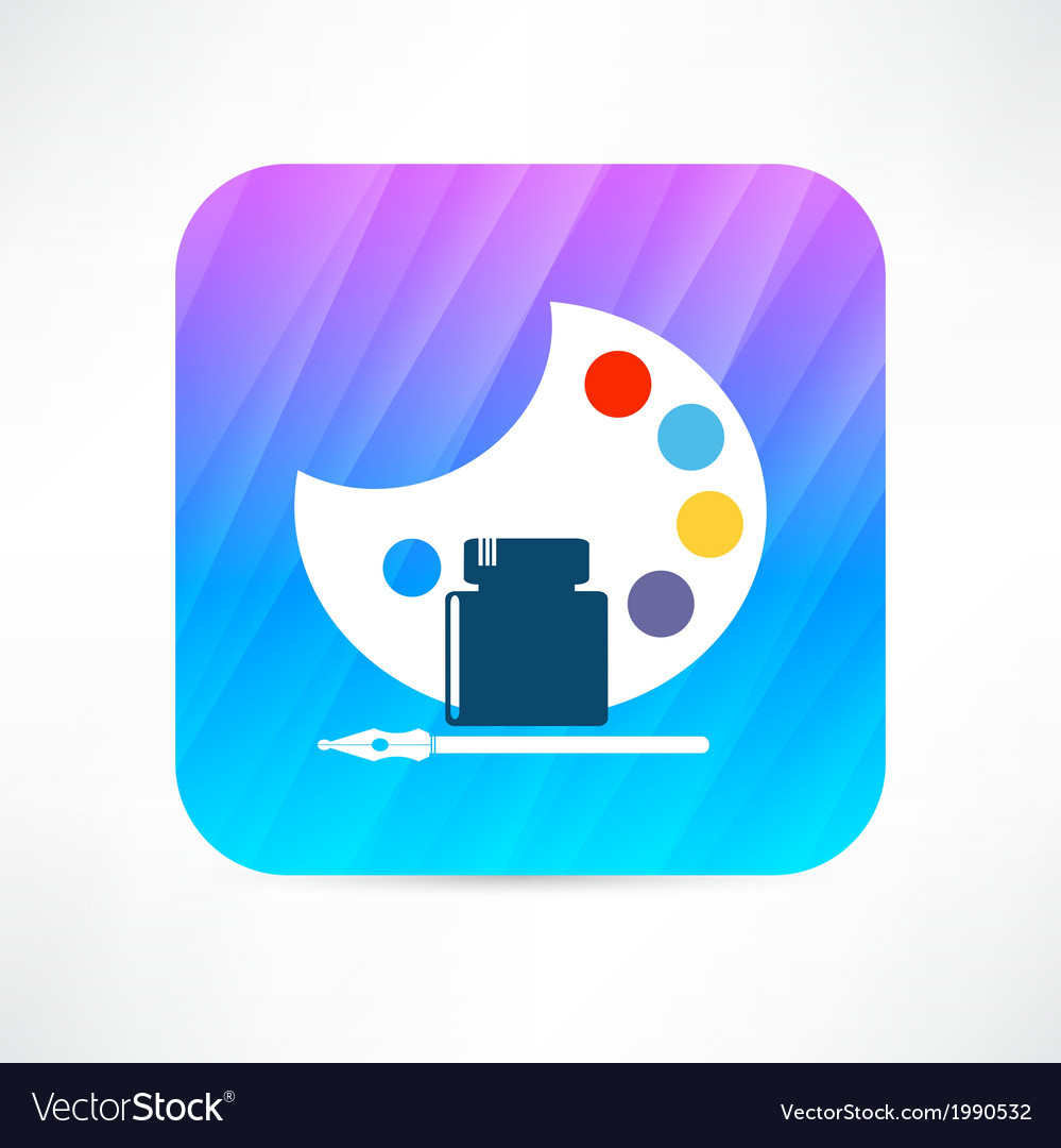 Palette icon vector | Price: 1 Credit (USD $1)