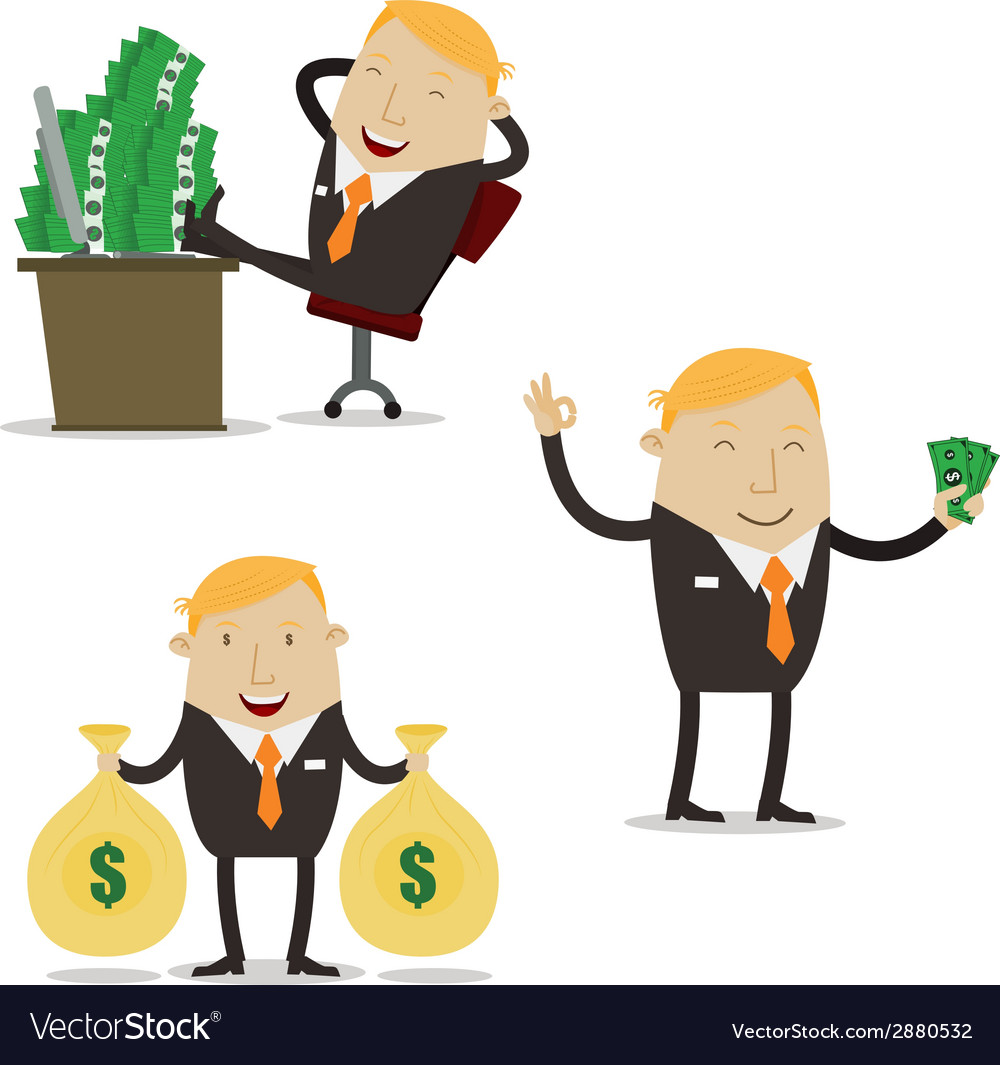 Profit businessman vector | Price: 1 Credit (USD $1)