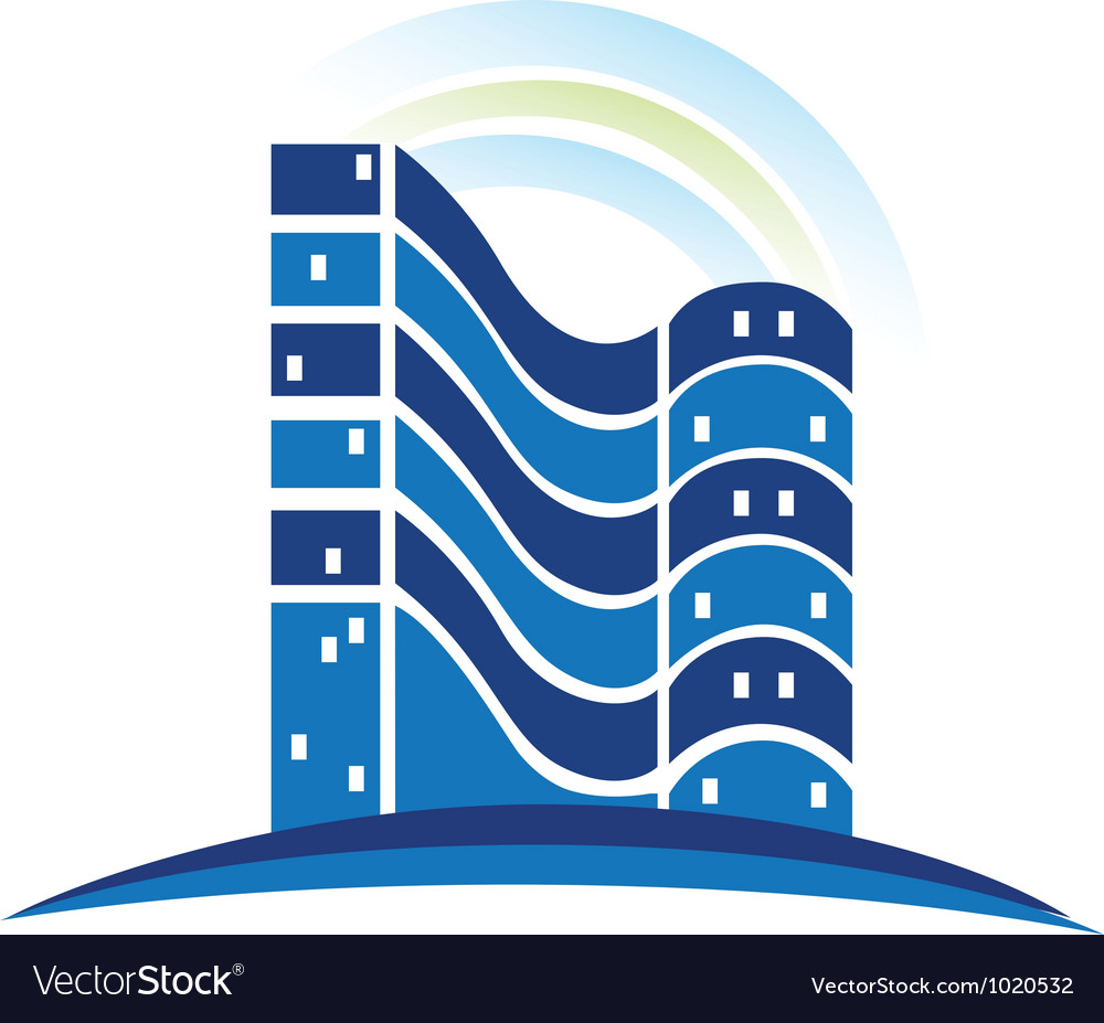 Real estate buildings logo vector | Price: 1 Credit (USD $1)