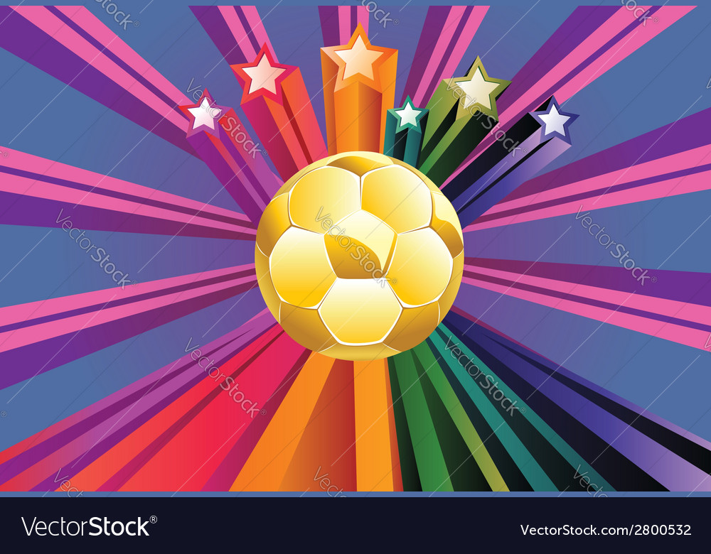 Soccer ball with stars2 vector | Price: 1 Credit (USD $1)