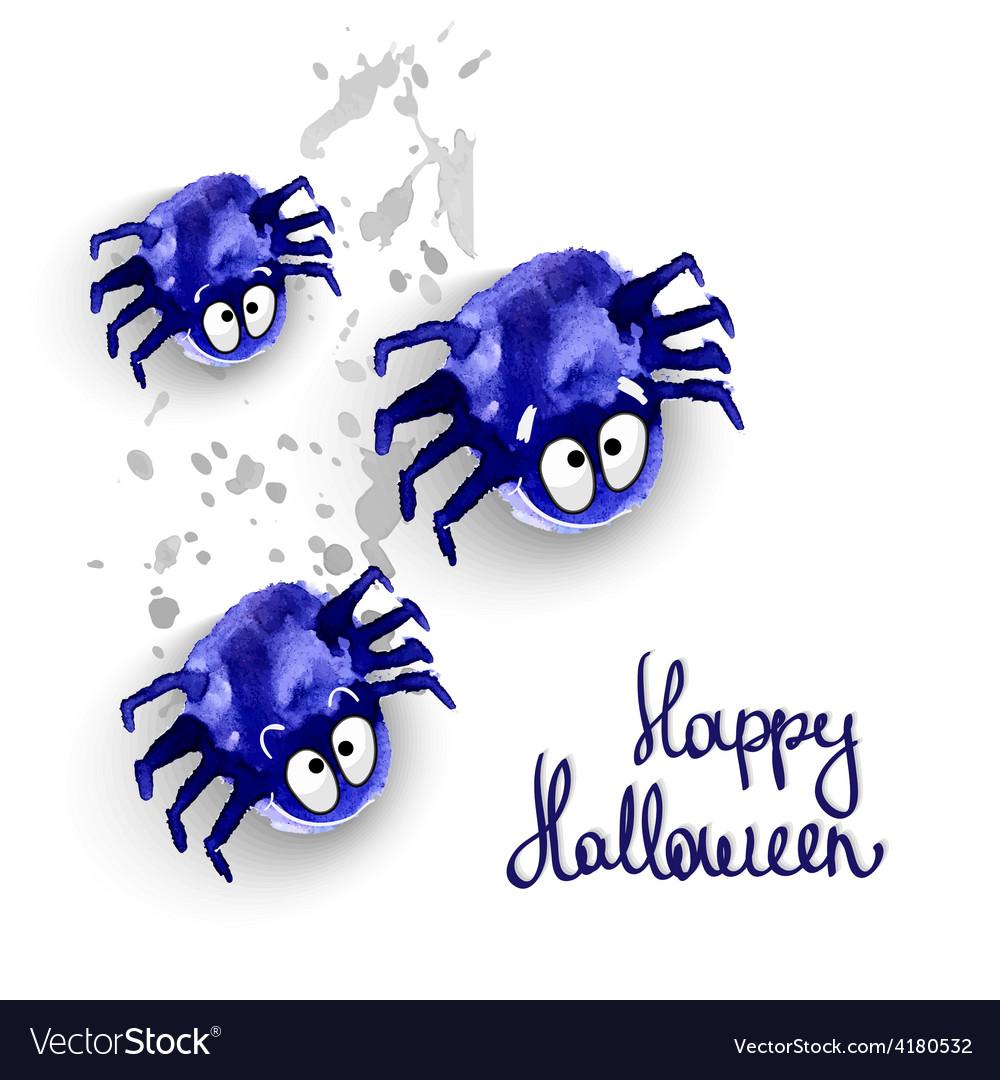 Spyders halloween vector | Price: 1 Credit (USD $1)