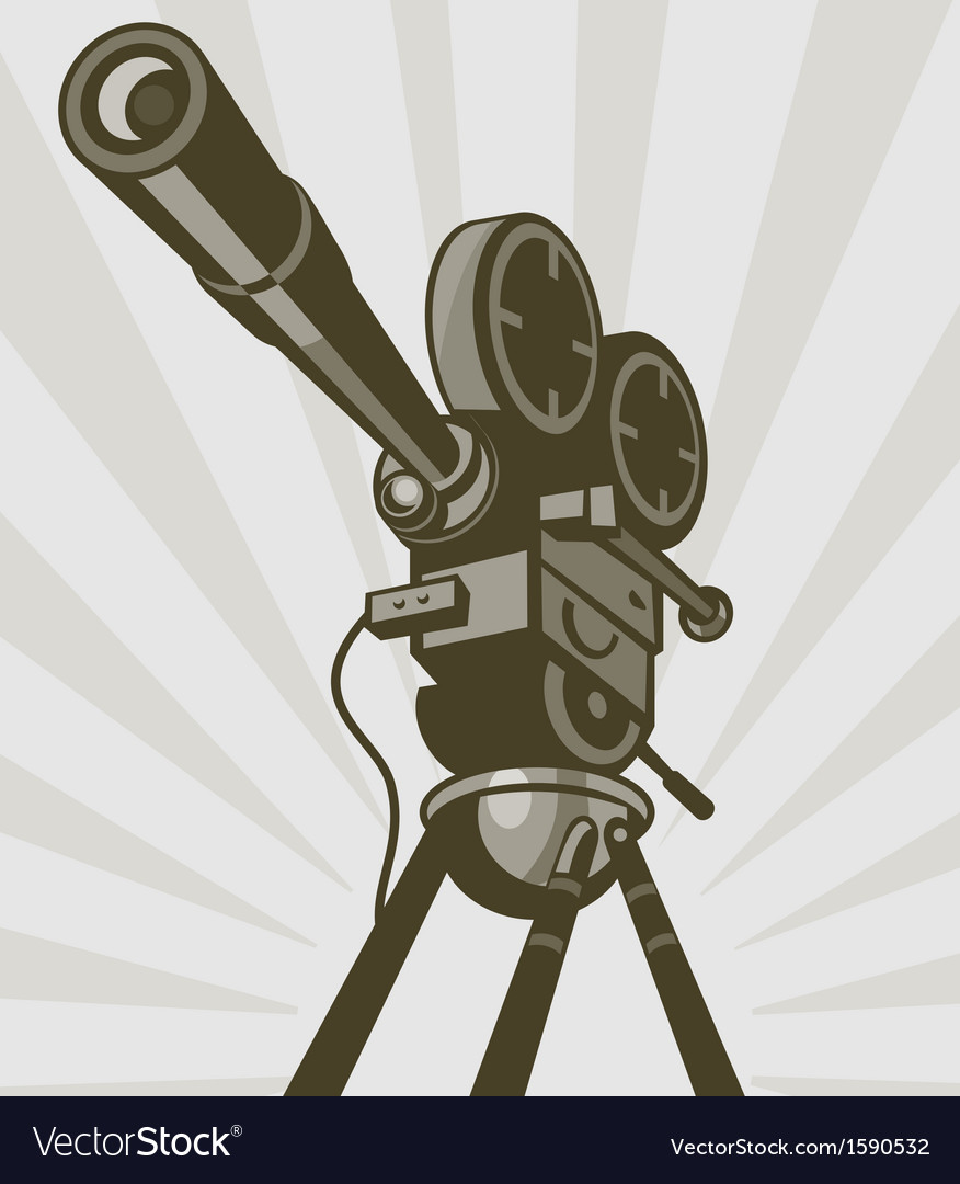 Vintage movie or television film camera vector | Price: 1 Credit (USD $1)