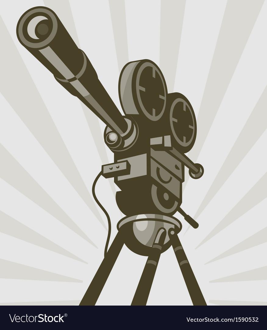 Vintage movie or television film camera vector | Price: 1 Credit (USD $1)