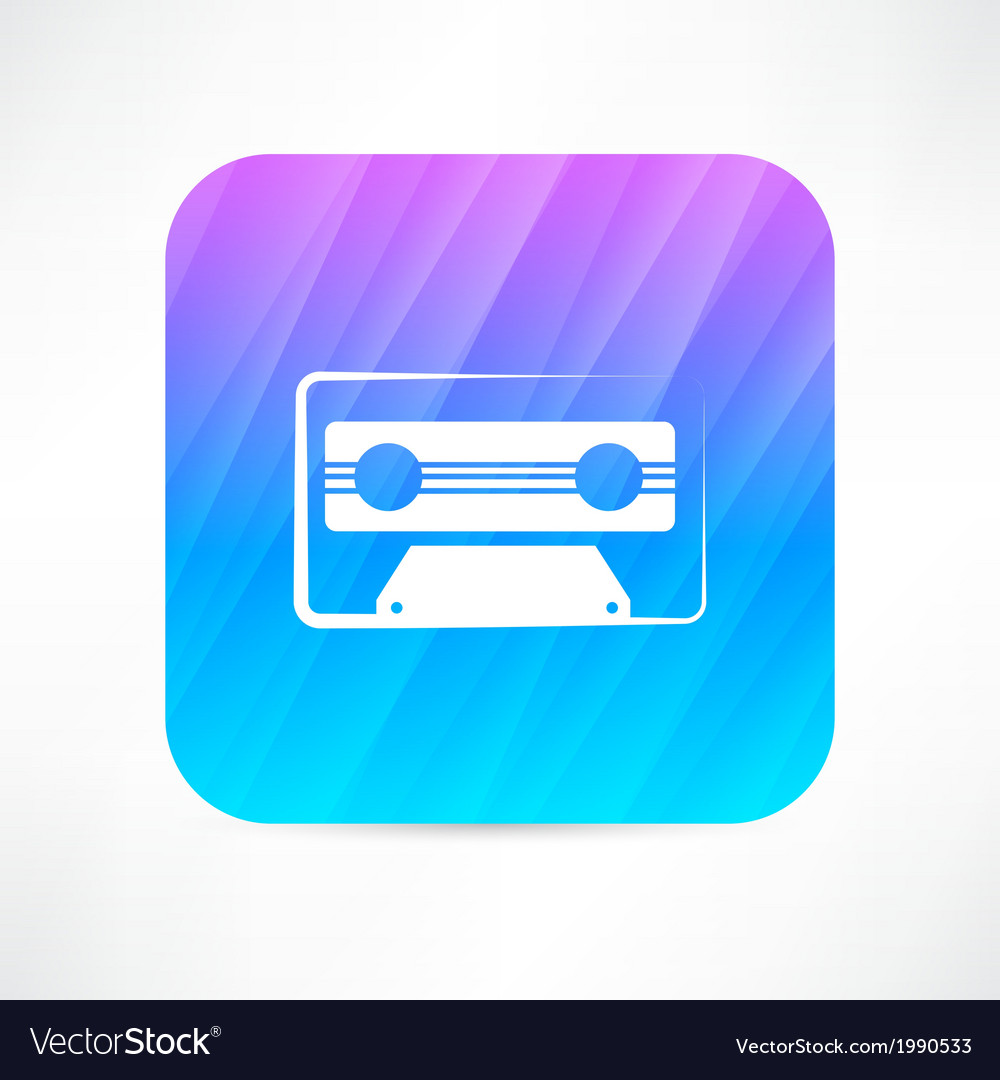 Audio tape icon vector | Price: 1 Credit (USD $1)