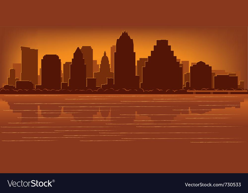 Austin texas skyline vector | Price: 1 Credit (USD $1)