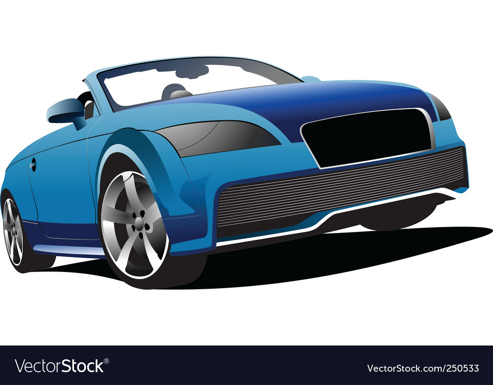 Blue cabriolet vector | Price: 1 Credit (USD $1)