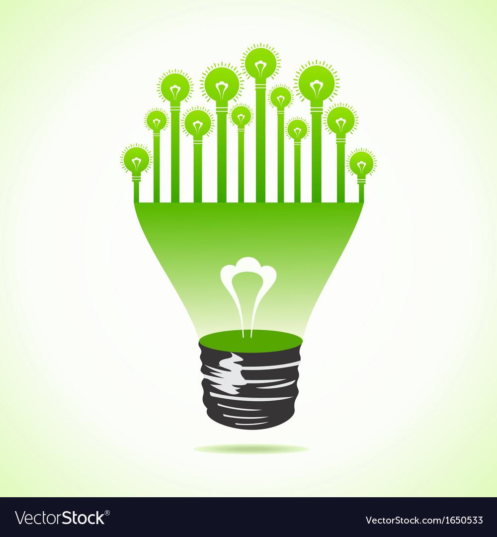 Bulbs on half bulb vector | Price: 1 Credit (USD $1)