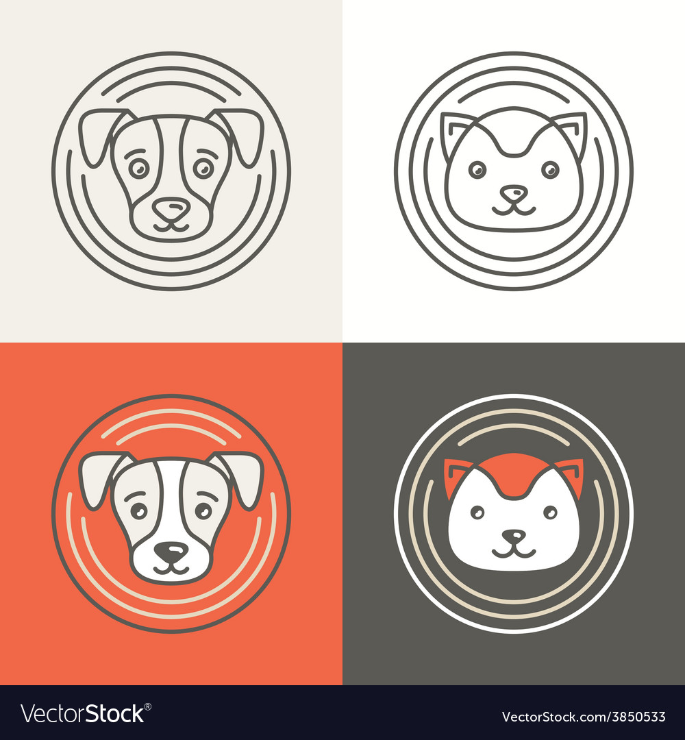 Dog and cat icons and logos vector | Price: 1 Credit (USD $1)