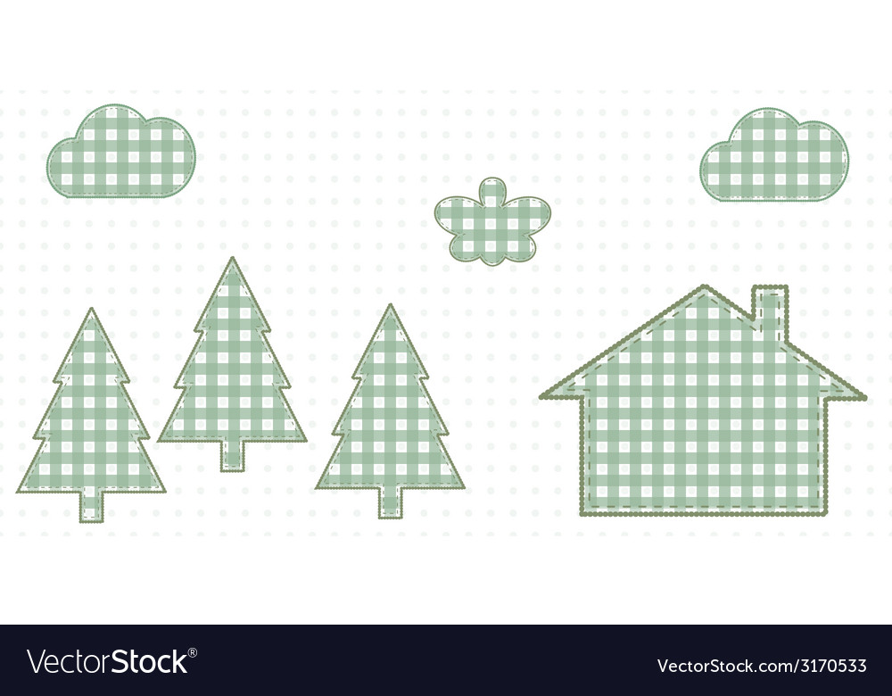 House in the woods cute baby style vector | Price: 1 Credit (USD $1)