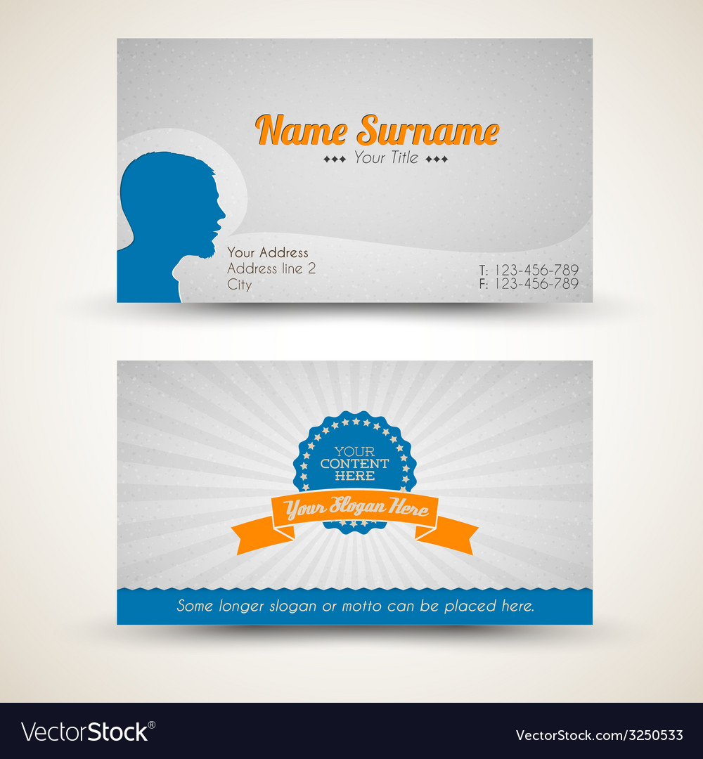 Old-style retro vintage business card vector   Price: 1 Credit (USD $1)