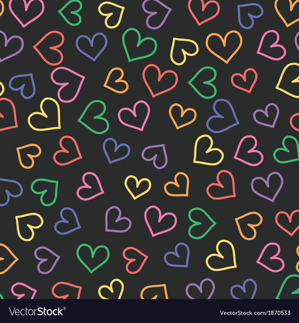 Pattern with hearts vector   Price: 1 Credit (USD $1)