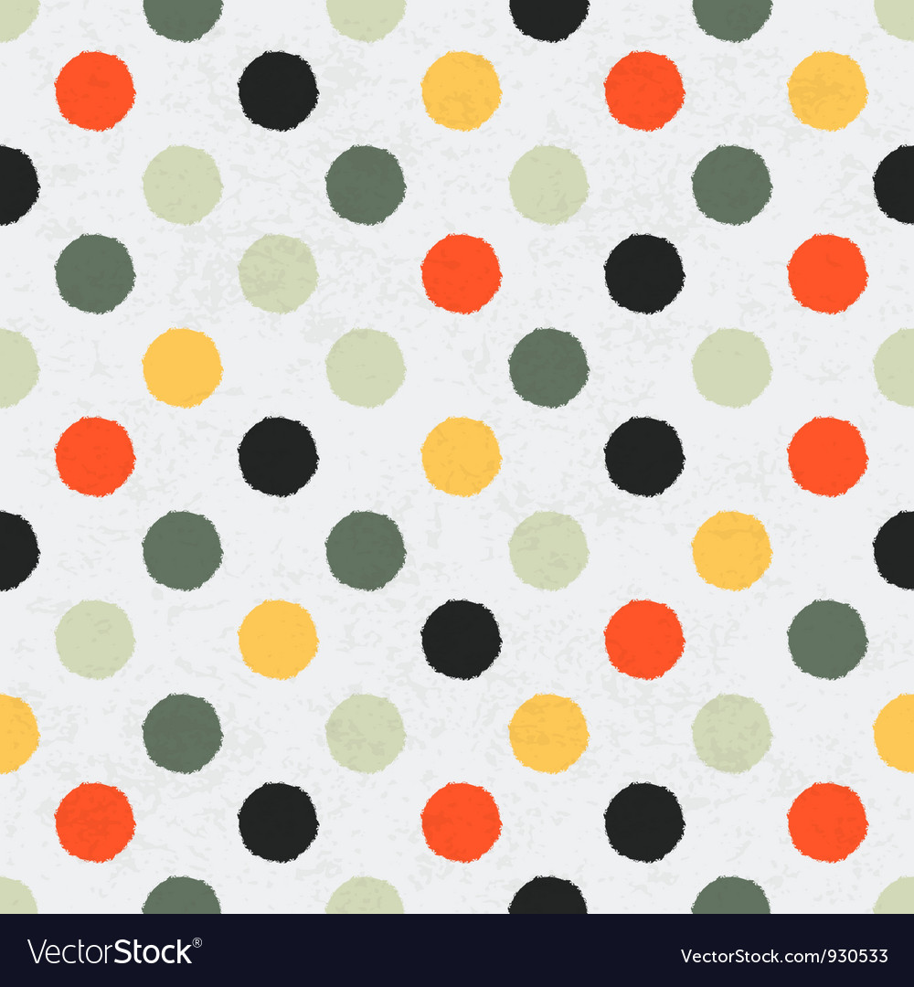 Seamless variegated polka dot pattern vector   Price: 1 Credit (USD $1)