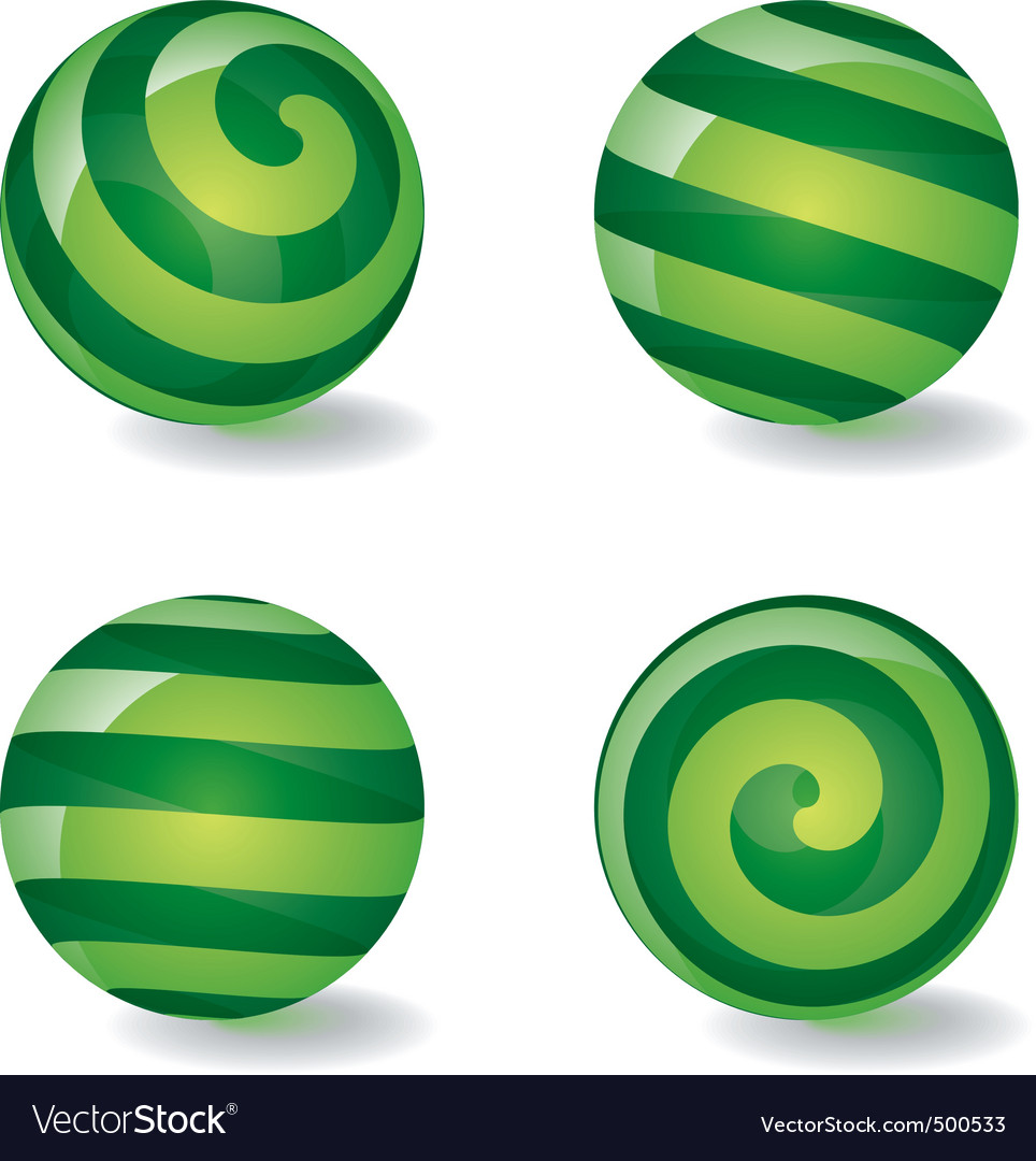 Striped spherical icons vector | Price: 1 Credit (USD $1)