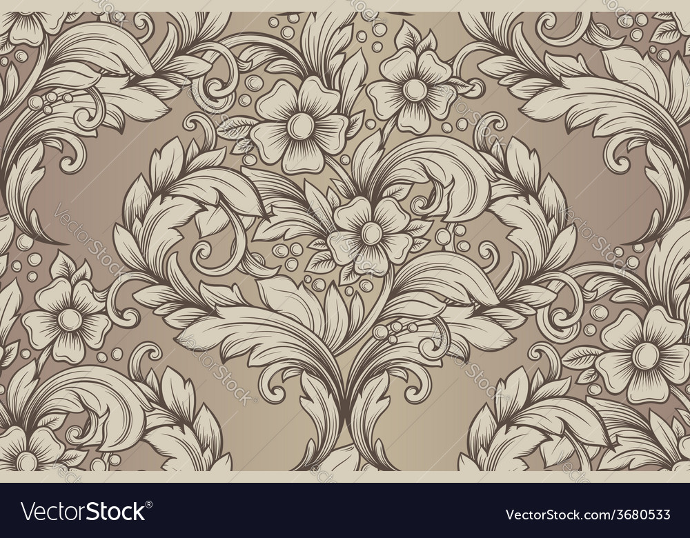 Vintage seamless hand drawn pattern vector | Price: 1 Credit (USD $1)