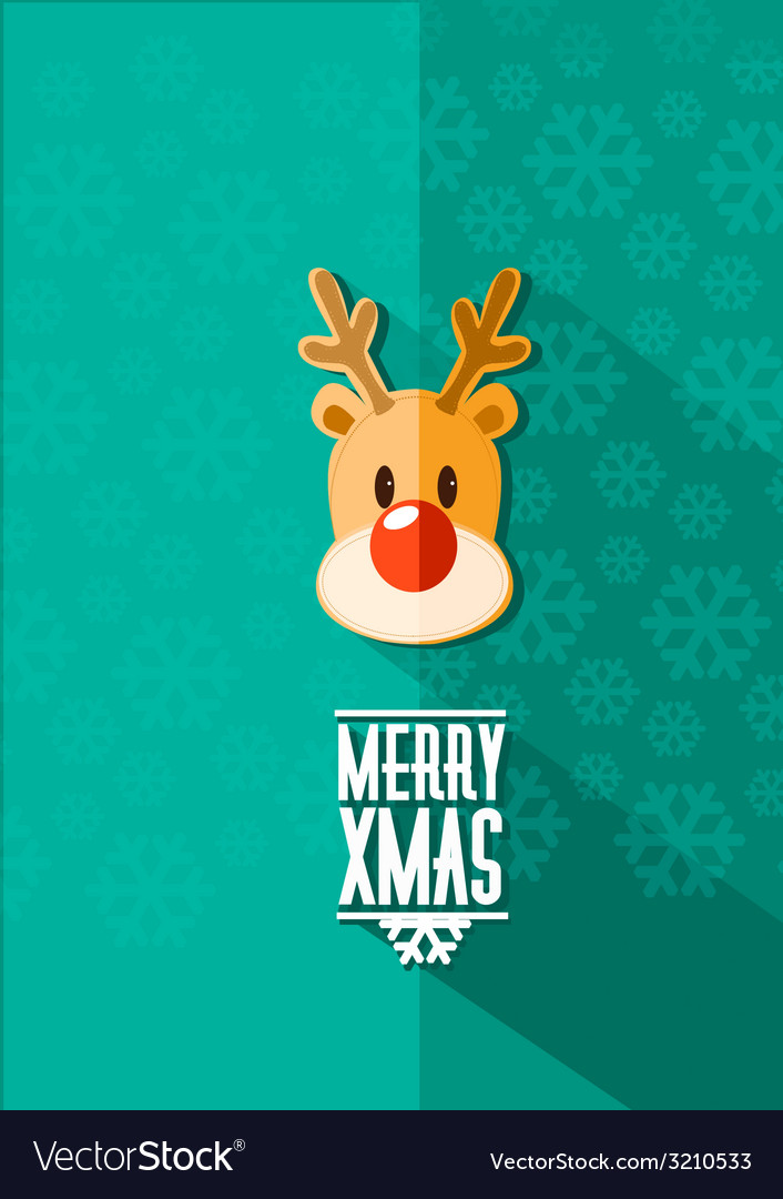 Xmas rudolf vector | Price: 1 Credit (USD $1)