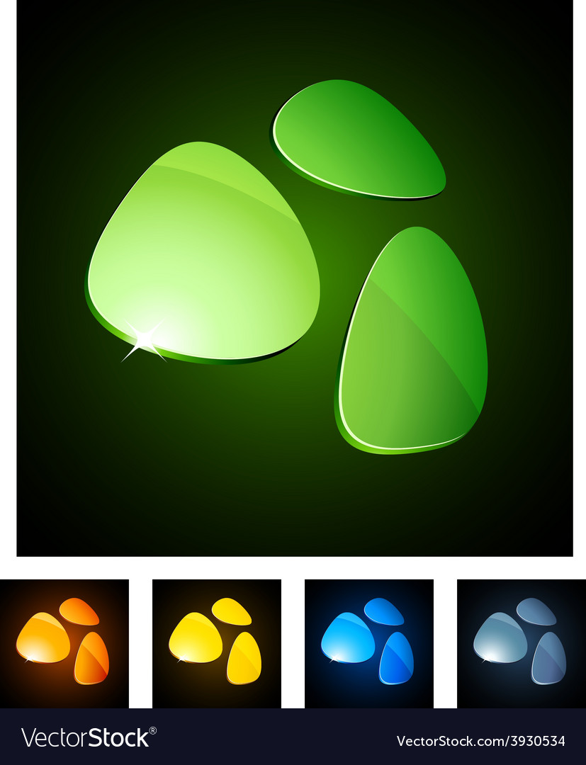 3d vibrant emblems vector | Price: 1 Credit (USD $1)