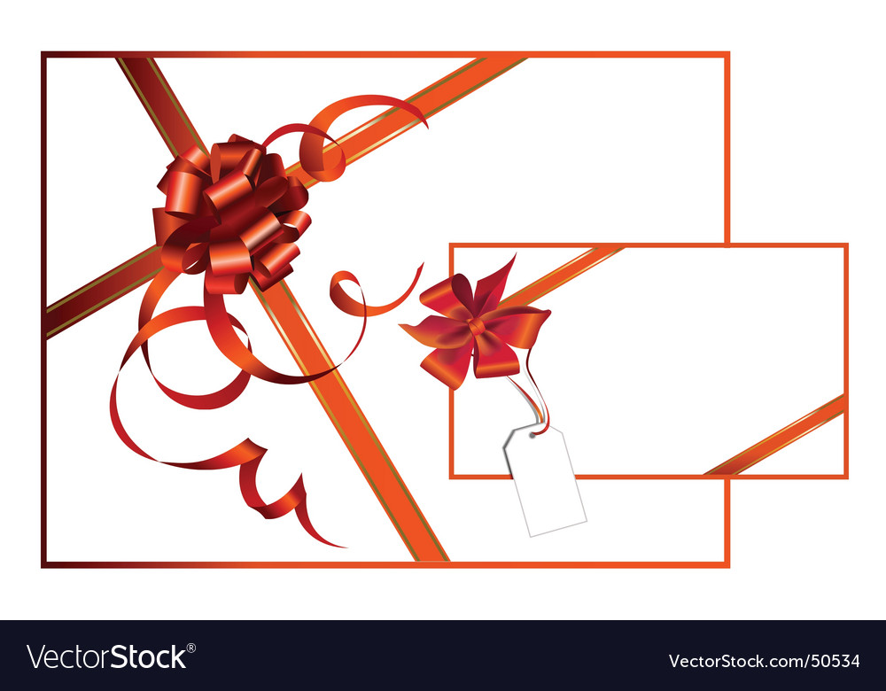 Celebratory card with red ribbon vector | Price: 1 Credit (USD $1)