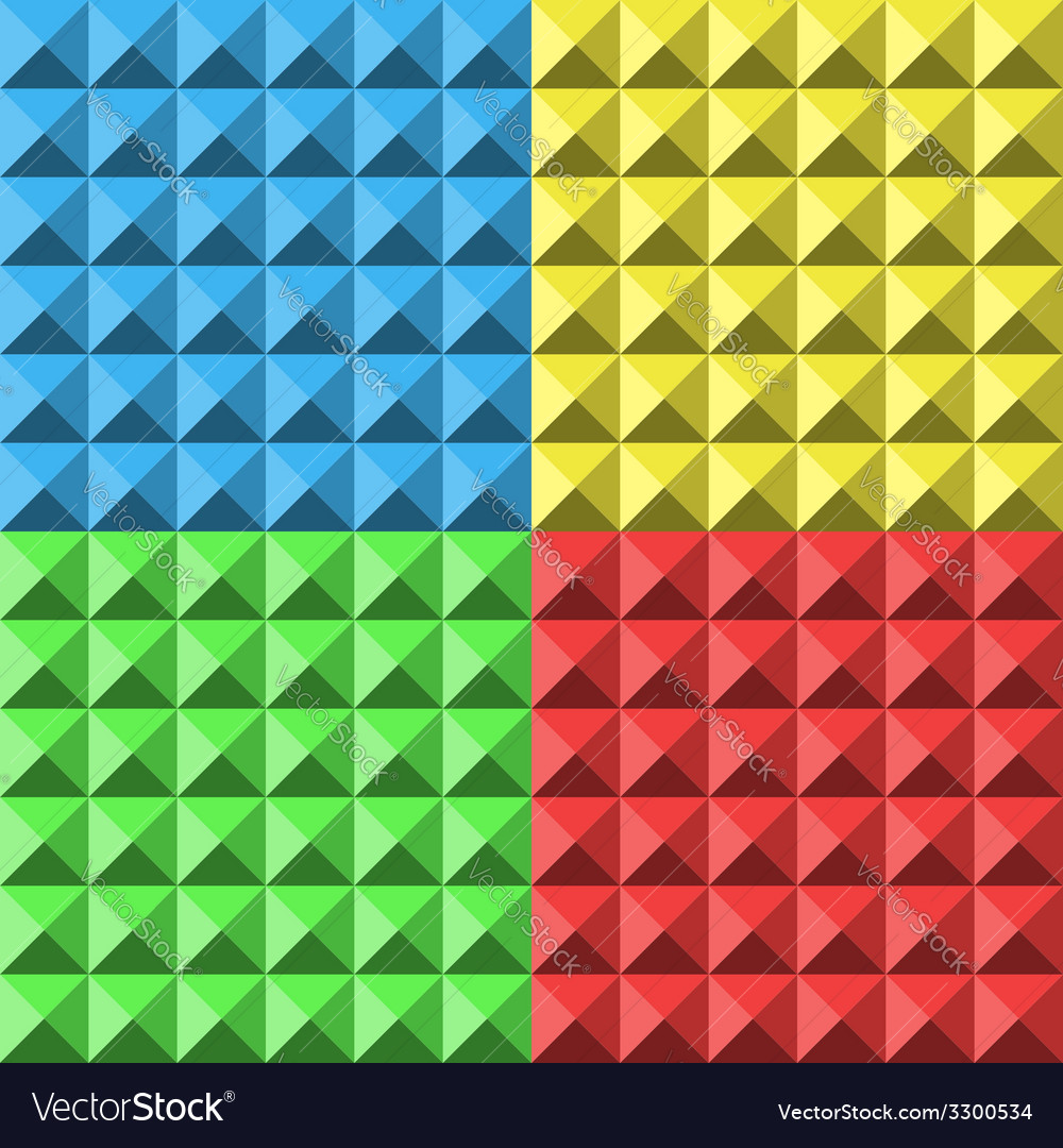 Colors pyramid seamless pattern vector | Price: 1 Credit (USD $1)