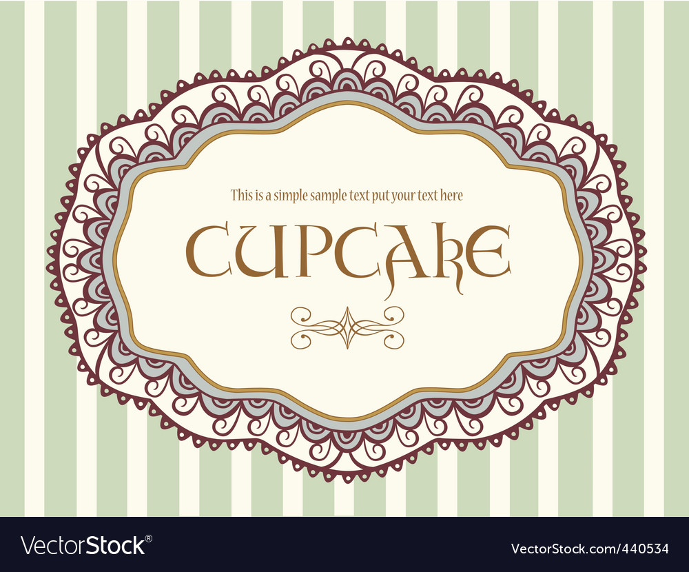 Cute vintage label vector | Price: 1 Credit (USD $1)
