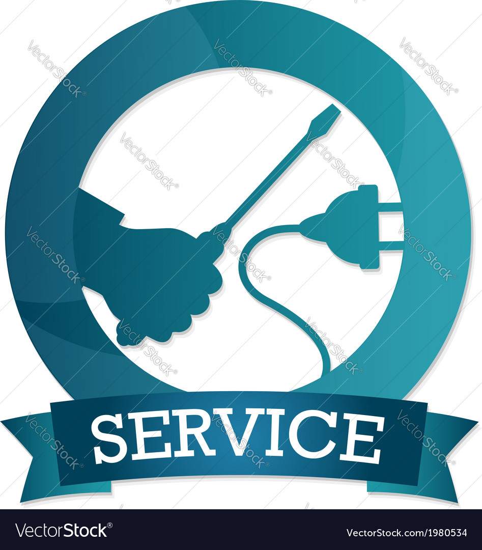 Emblem of electricity service vector | Price: 1 Credit (USD $1)