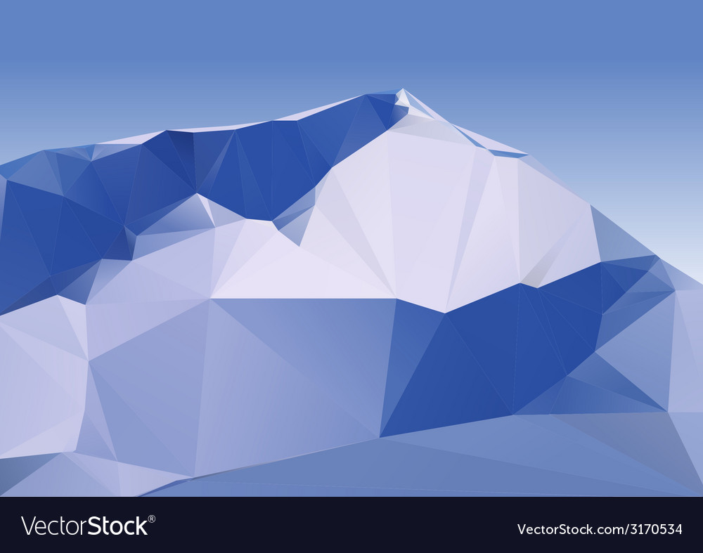 Geometric mountains vector | Price: 1 Credit (USD $1)