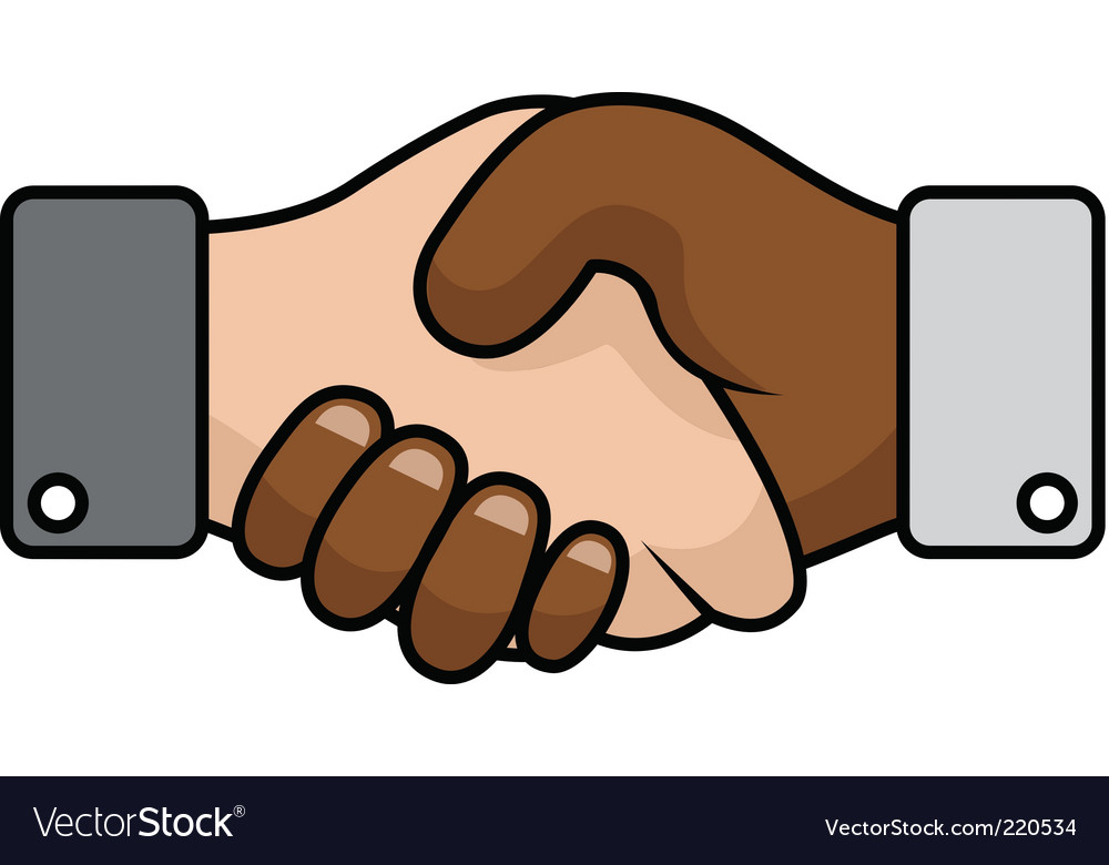 Handshake race relations vector | Price: 1 Credit (USD $1)