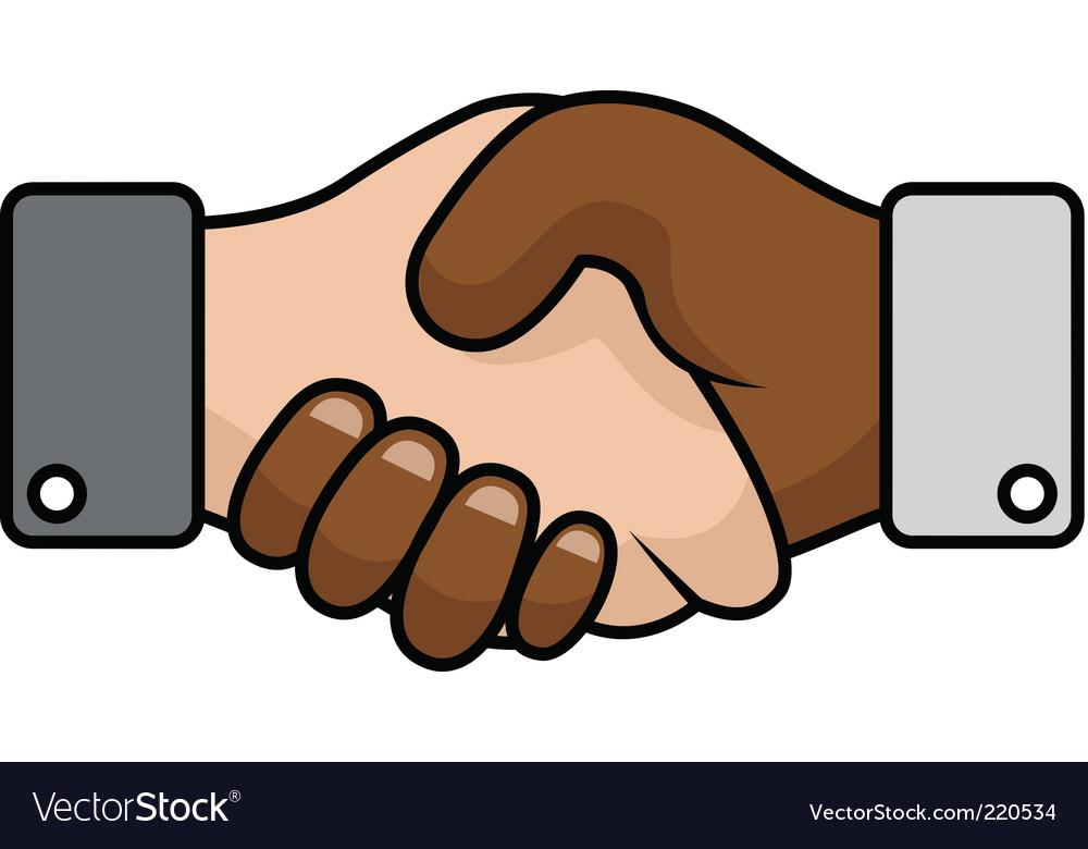 Handshake race relations vector | Price: 1 Credit (USD $1)