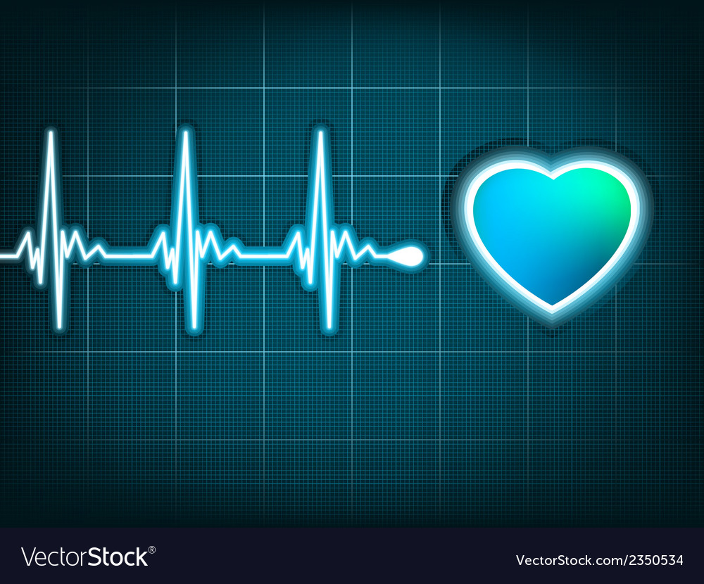 Heart beat and a heart eps 8 vector | Price: 1 Credit (USD $1)