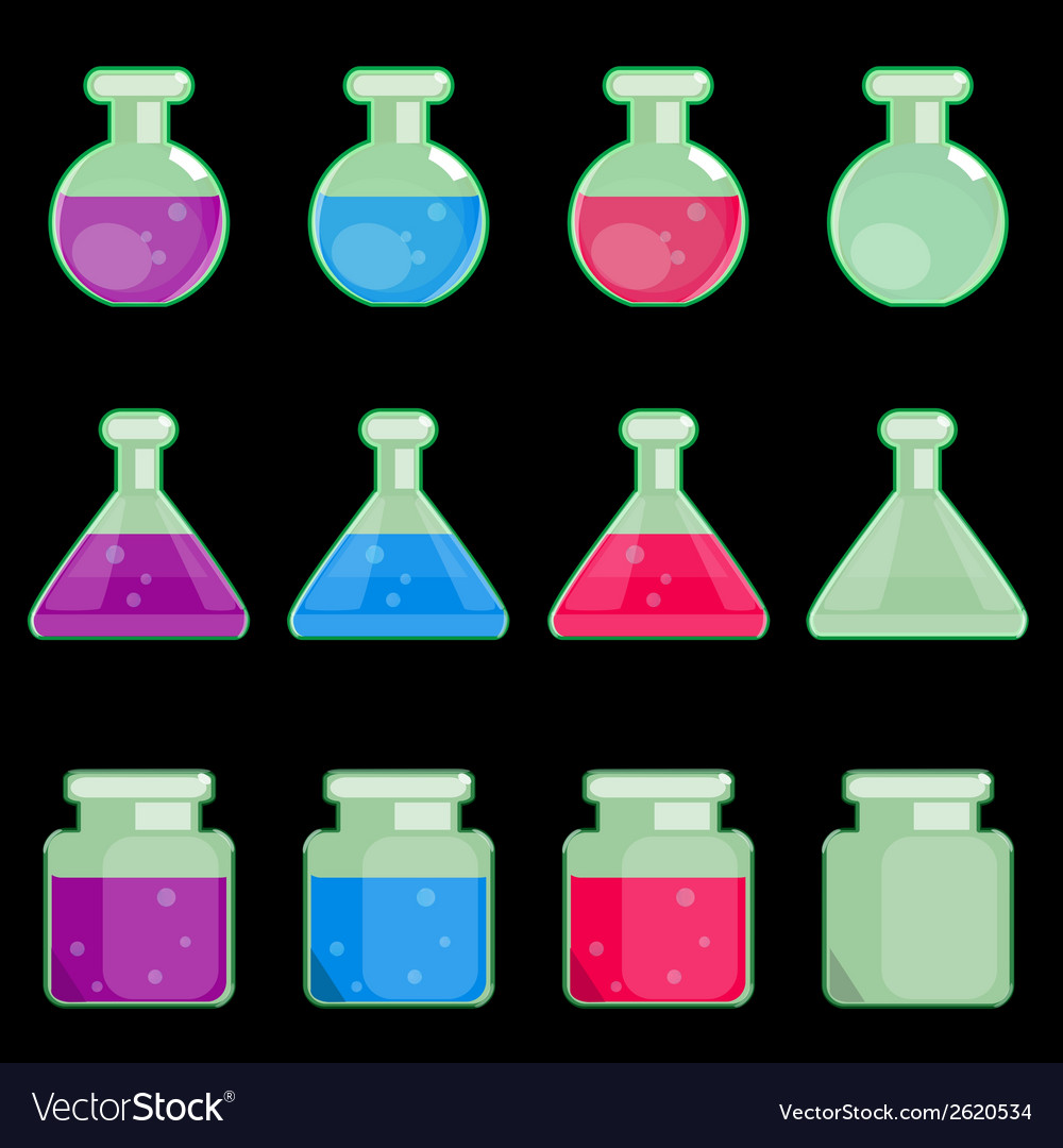 Icon of transparent flasks vector | Price: 1 Credit (USD $1)