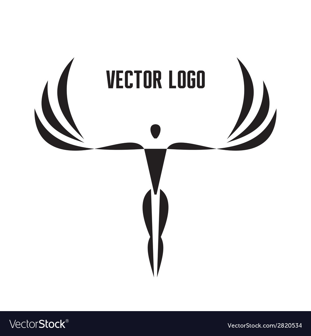 Logo template - man with wings vector | Price: 1 Credit (USD $1)