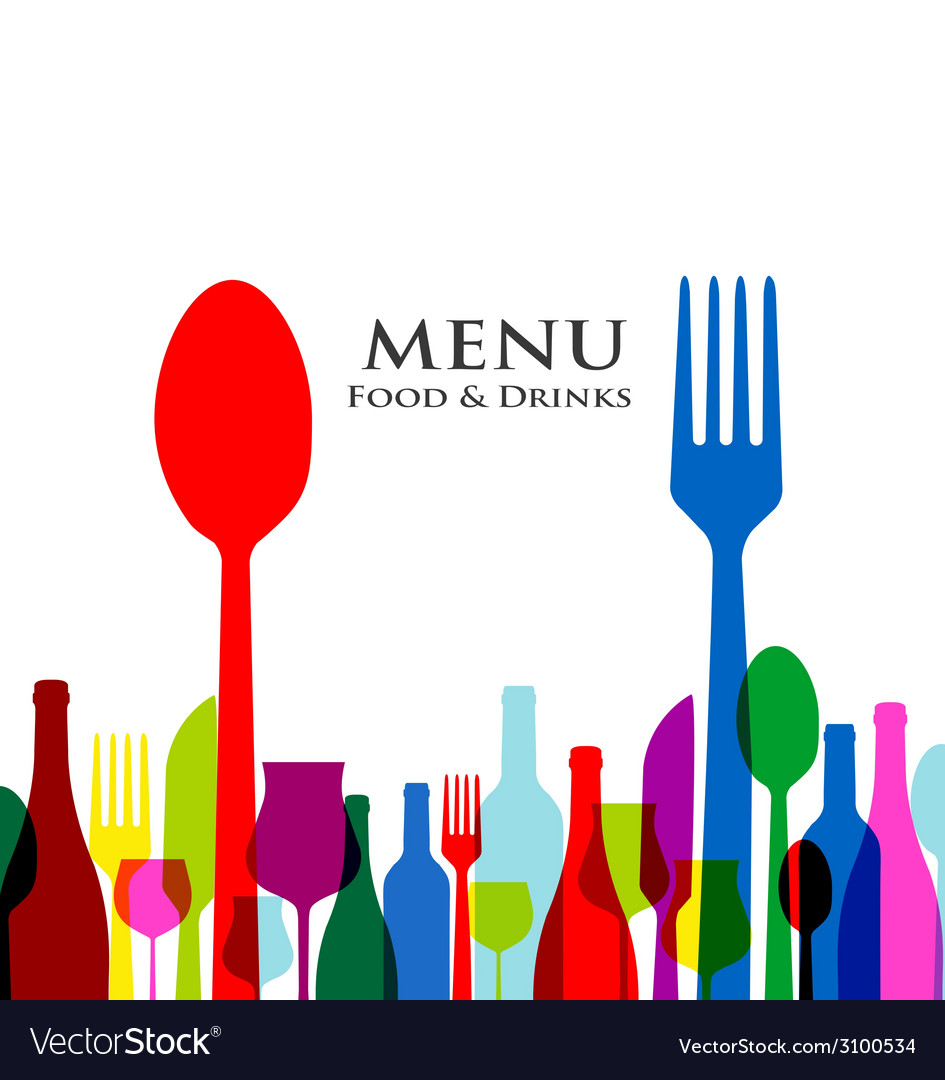 Retro cover restaurant menu designs on white vector | Price: 1 Credit (USD $1)