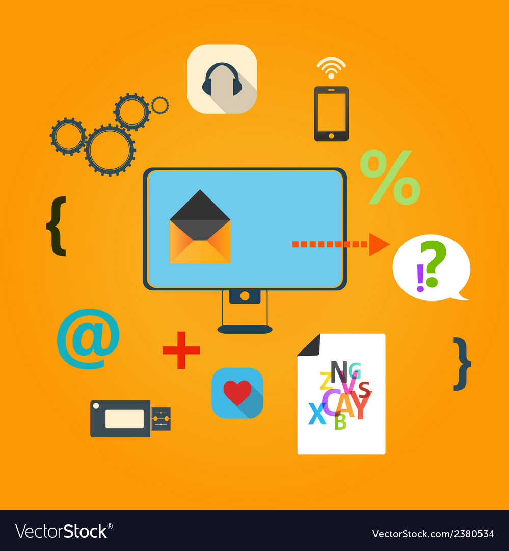 Set of flat icons for web concept vector | Price: 1 Credit (USD $1)