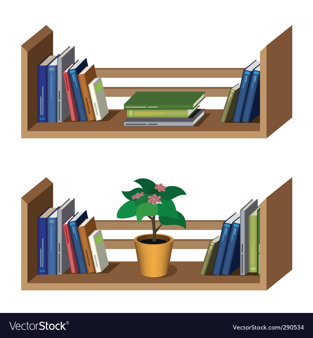 Shelf with books vector   Price: 3 Credit (USD $3)