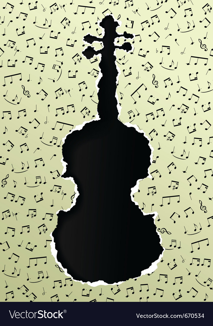 Violin torn paper vector | Price: 1 Credit (USD $1)