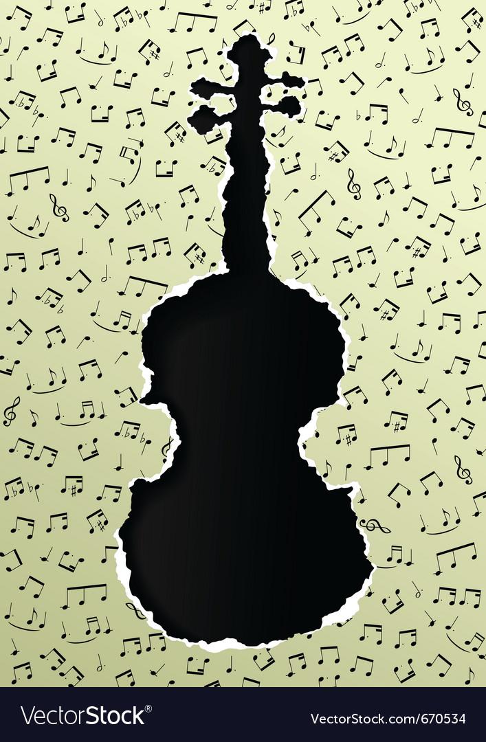 Violin torn paper vector | Price: 1 Credit (USD $1)