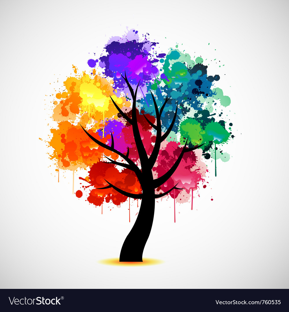 Abstract colorful tree vector | Price: 1 Credit (USD $1)