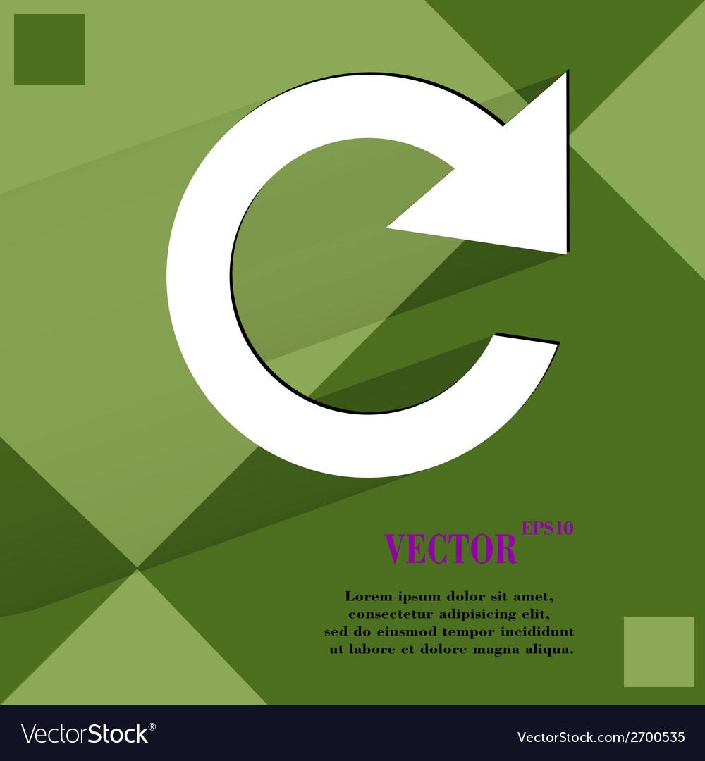 Arrow update flat modern web design on a flat vector | Price: 1 Credit (USD $1)