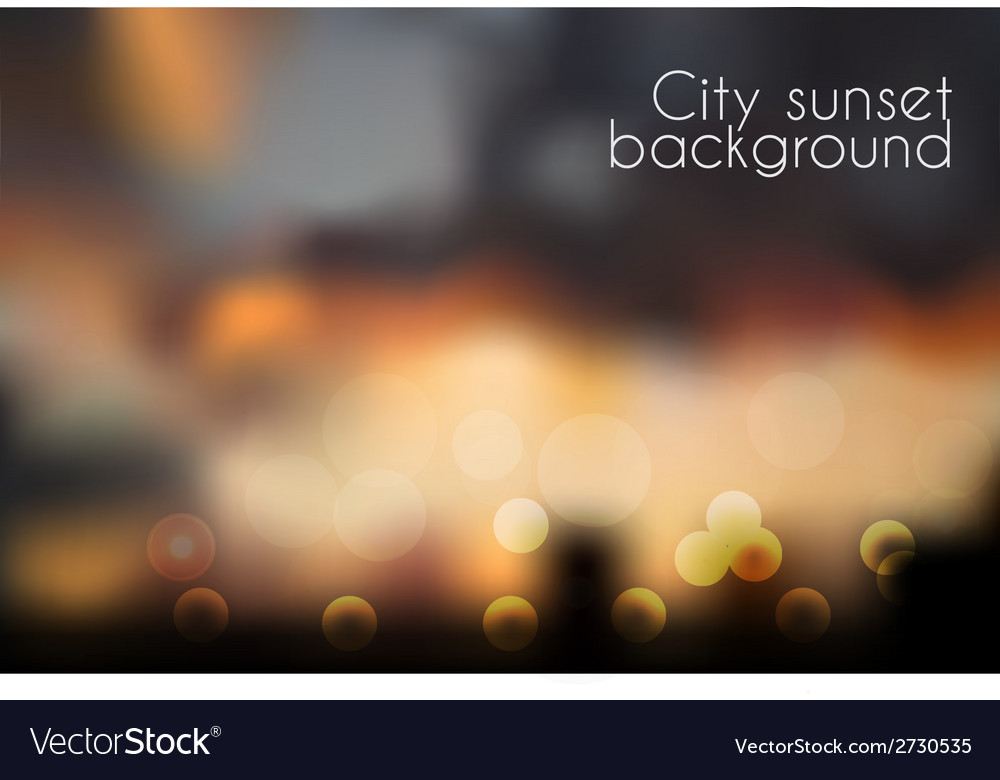 Bokeh effect blurred sunset background vector | Price: 1 Credit (USD $1)