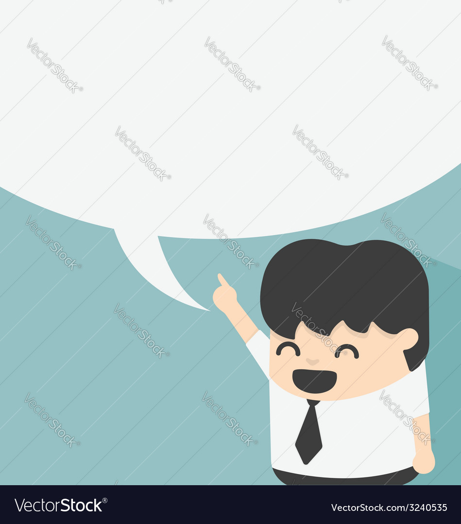 Business with speech bubbles vector | Price: 1 Credit (USD $1)