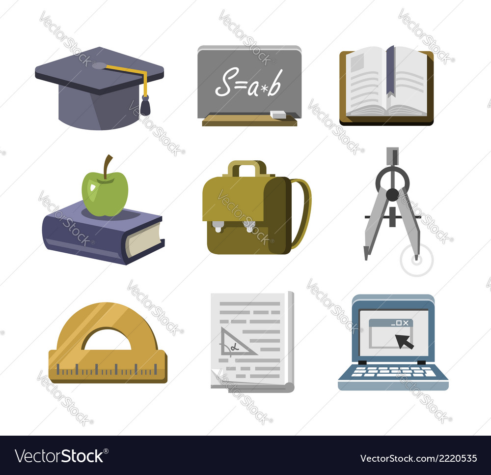 Education icons vector | Price: 1 Credit (USD $1)