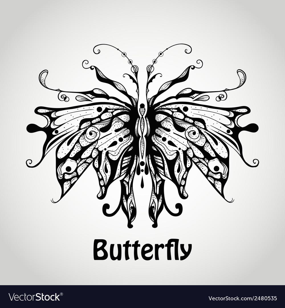 Graphic butterfly vector | Price: 1 Credit (USD $1)