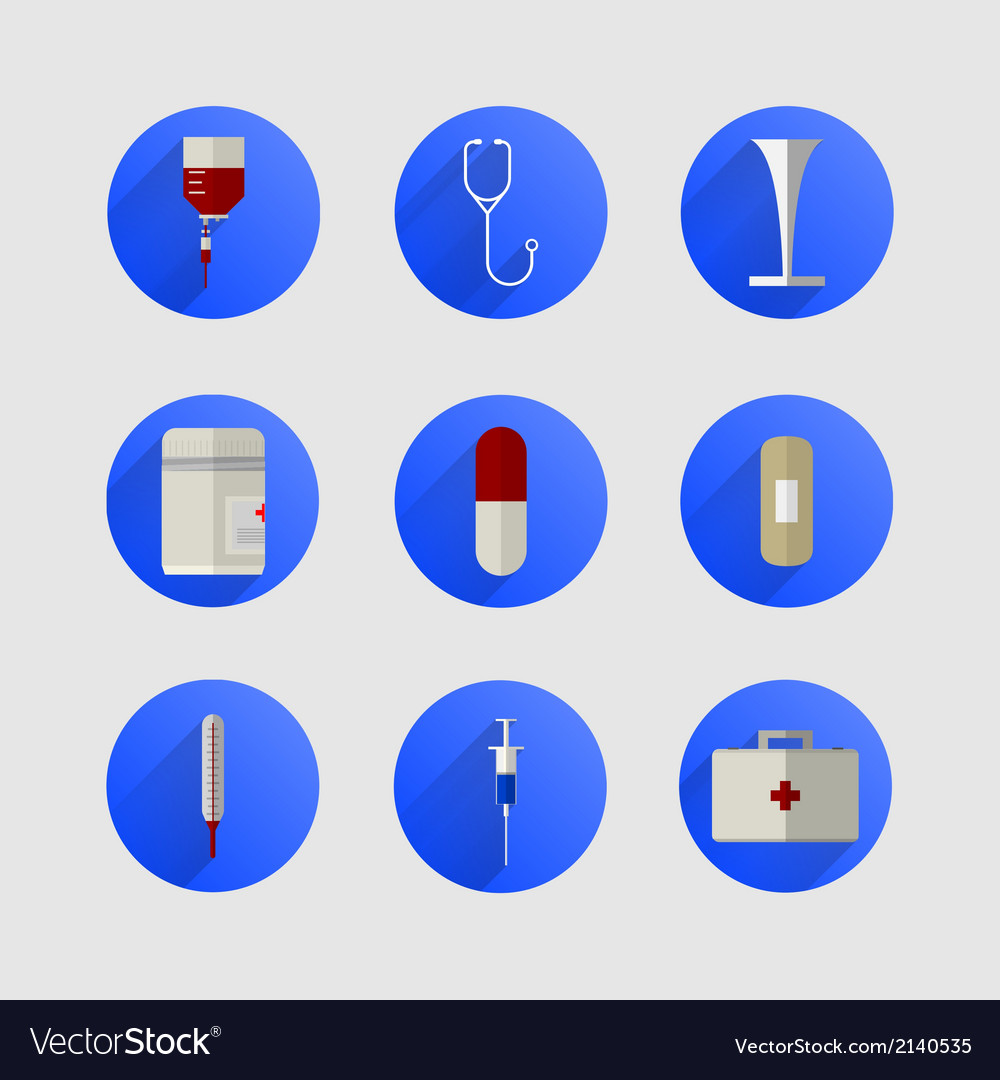 Icons for medicine vector | Price: 1 Credit (USD $1)