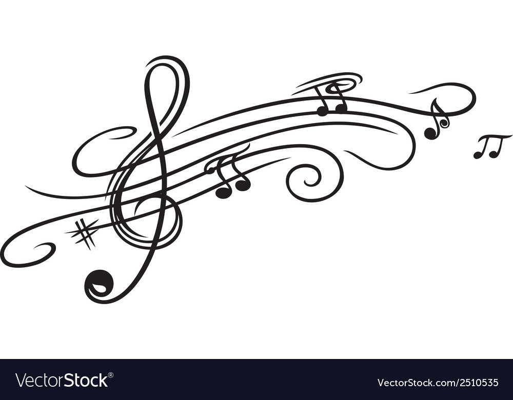 Music sheet clef vector | Price: 1 Credit (USD $1)